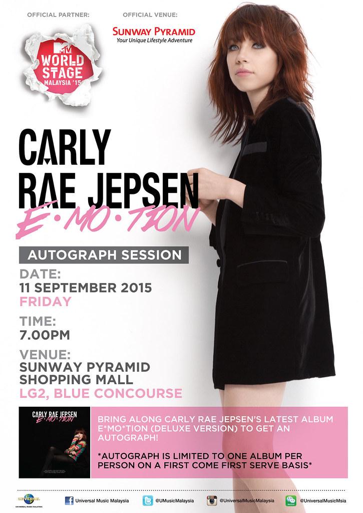Carly Rae Jepsen Autograph Session in Kuala Lumpur