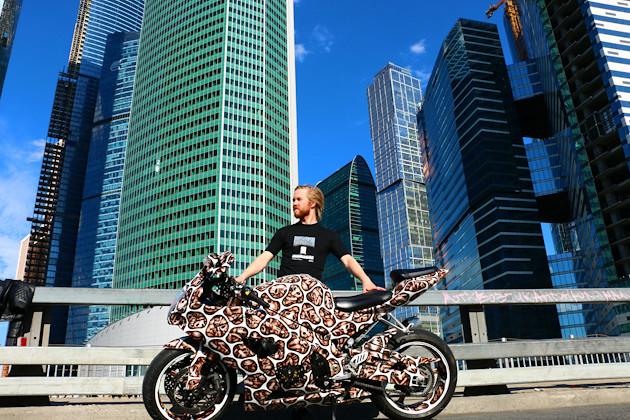Самый разрисованный мотоцикл в России - Suzuki GSXR1000 2006 Иванова Алексея
