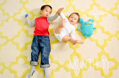 Oliver & Elliot - Month 10