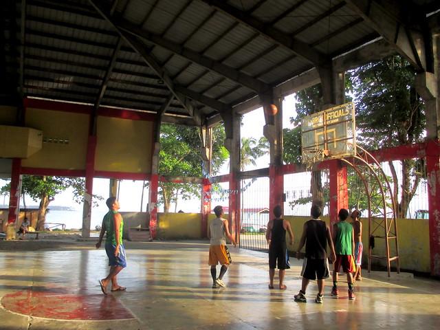Local basketball players enjoy the newly-rehabilitated Basey Civic Center