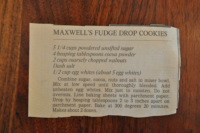 Maxwell's Fudge Drop Cookies
