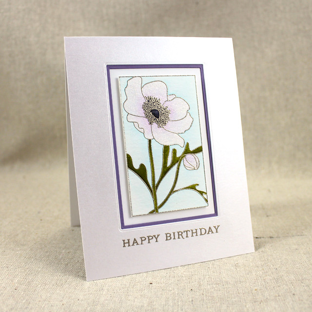 Birthday Anemone Card