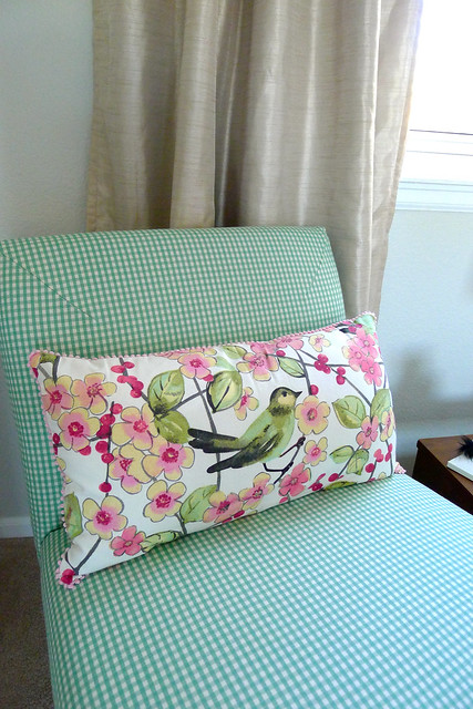 DIY Chair Pillow Curtains