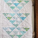 Triangle Arrows Baby quilt by Annamal Quilts