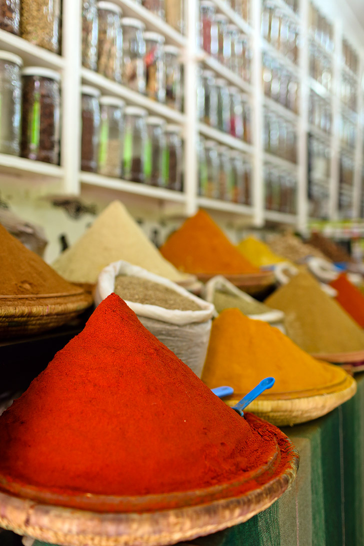 Spices at Place Jemaa el Fna (Things to do in Marrakech Morocco).