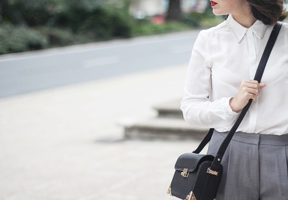 mademoiselle r black bag from la redoute and cinza jewelry myblueberrynightsblog