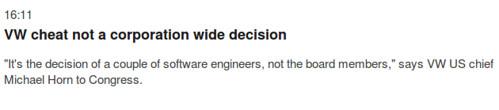 VW vezér - A szoftverfejleszők döntése volt