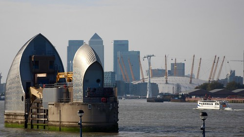 Thames Barrier and Canary Whaf