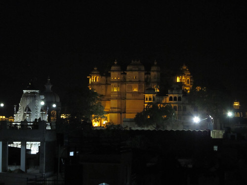 Udaipur by night: le Palais