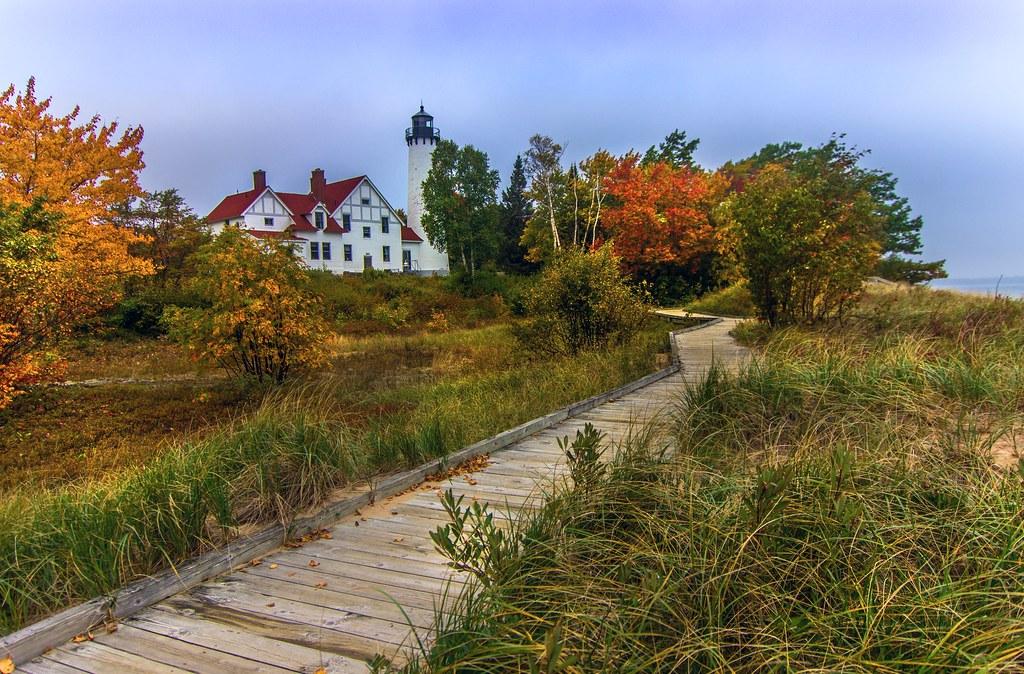 Point Iroquois Lighthouse on Whitefish Bay