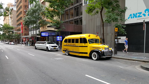 Hot Rod High School,  Retro School Bus,  Pitt Street,  Sydney,  NSW