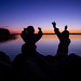 sunset silhouette dance by salas-3
