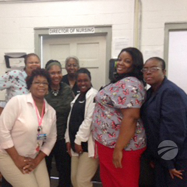 Missouri medical staff assists fellow nurse in distress at Medium Security Institution