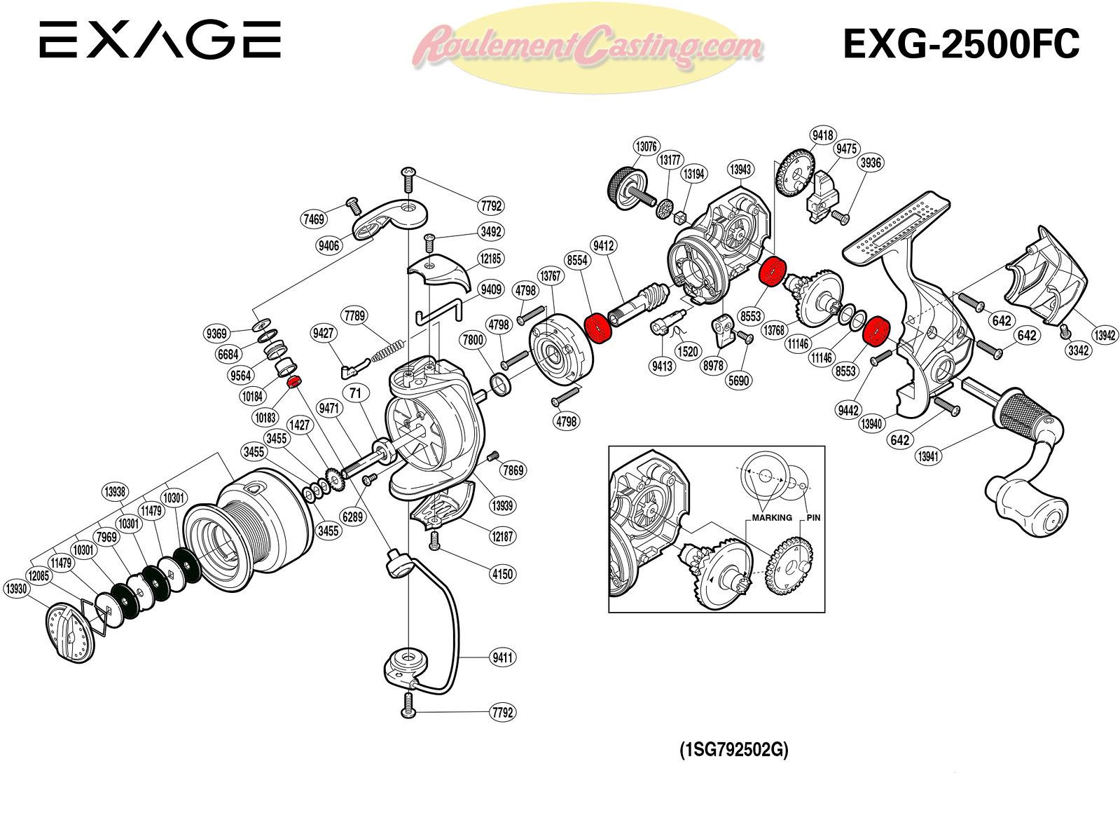 Schema-Shimano-EXAGE-2500FC