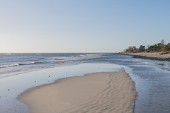 Sunny autumn day at the Beach