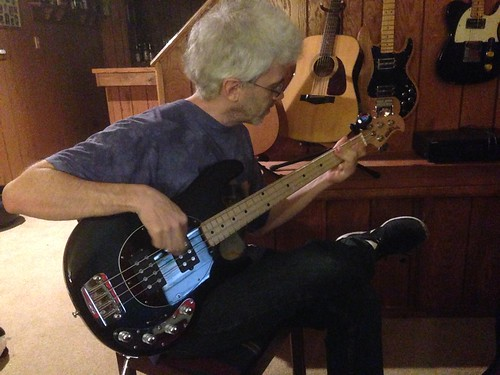 Paul Laying Down Some Bass Tracks