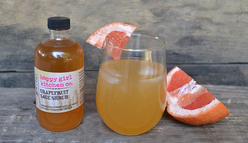 Grapefruit Sage Shrub Cocktail