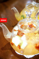 Iced Elderflower Strawberry Apple Green Tea With F…