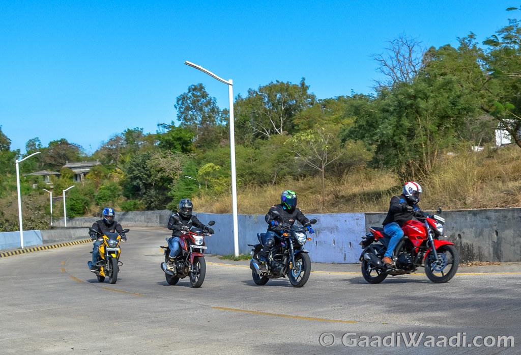 Honda CB Hornet vs Suzuki Gixxer vs Yamaha FZ vs TVS Apache (5)