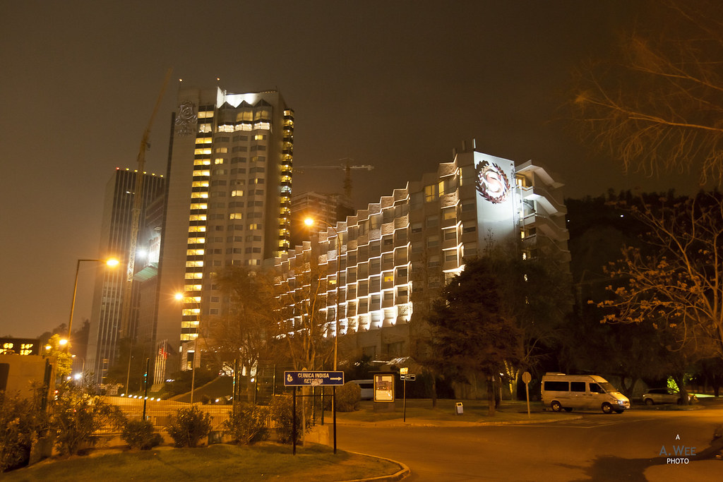 Sheraton Santiago at night