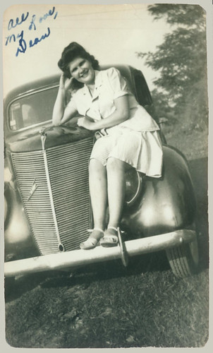 Woman on a Fender