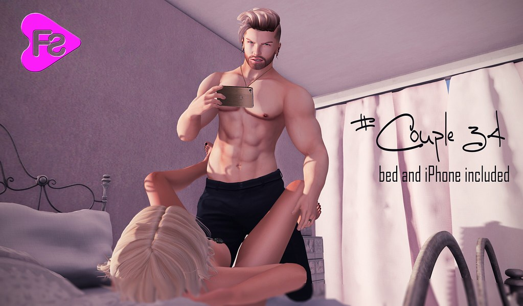 New Pose [Frimon Store] #Couple 34 (bed and iPhone included) - SecondLifeHub.com