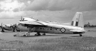 1953 RNZAF Bristol Freighter NZ5908 at Changi. Crashed near Taylor Pass, Blenheim, NZ, 27 May 1953