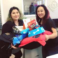 Congrats to Kimberly for winning our Grand Prize doggie gift drawing!!  Thank you so much for coming out. :) I hope your dogs enjoy all the snacks, toys, bowls, and dog bed!  #dogadoption #petadoption #REMGfamous #REMGBeaumont