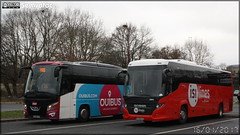 Scania Touring - Transdev TEGO (Transdev Express Grand Ouest) / Isilines n°24699 & VDL Bova Futura - Ouibus - Photo of Coulans-sur-Gée
