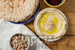 Middle Eastern cuisine: freshly made hummous