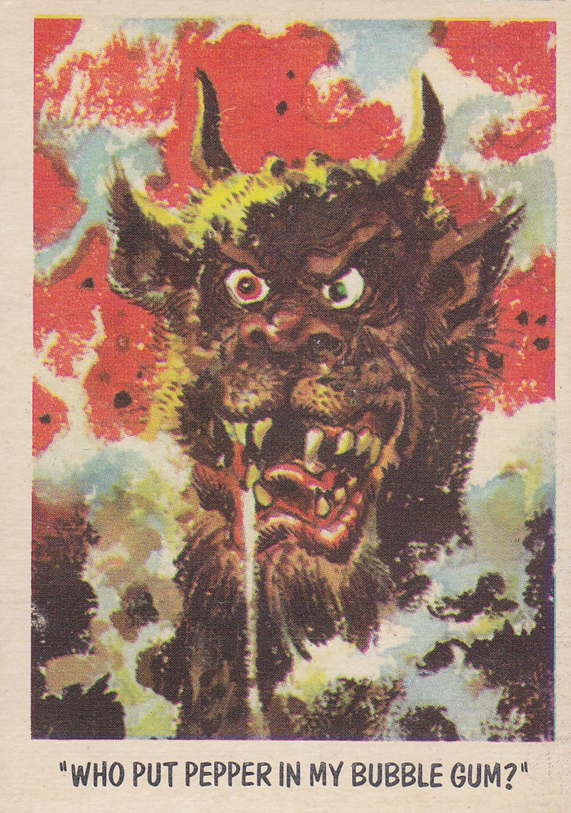 """You'll Die Laughing"" Topps trading cards 1959,  illustrated by Jack Davis (53)"