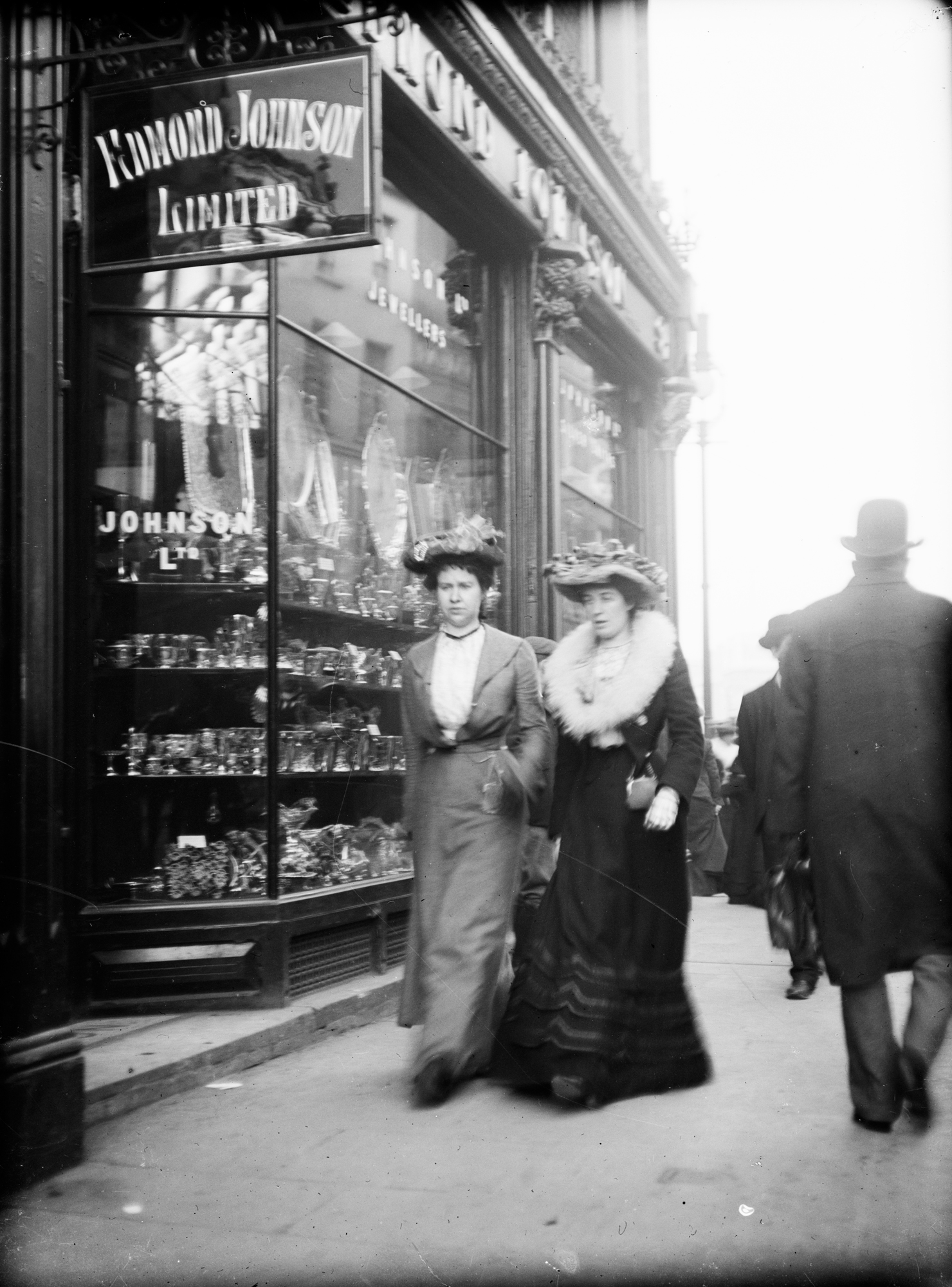 Two women walking past jewellers, Grafton Street