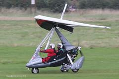 G-CDKM - 2005 build Mainair Sports Pegasus Quik, rolling for departure on Runway 26R at Barton
