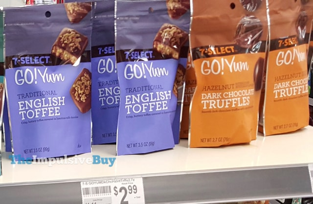 7-Select Go! Yum Traditional English Toffee and Hazelnut Dark Chocolate Truffles
