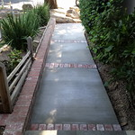 Front Walkway With Brick Inlay In Vacaville
