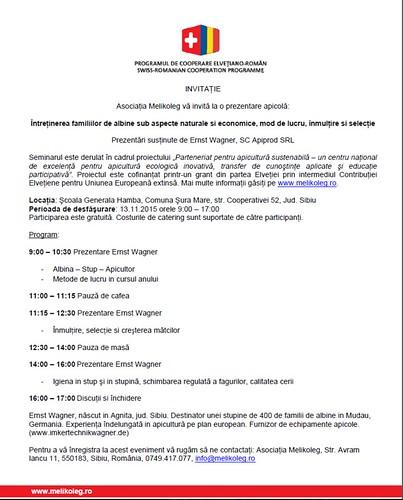 Invitatie seminar Ernst Wagner
