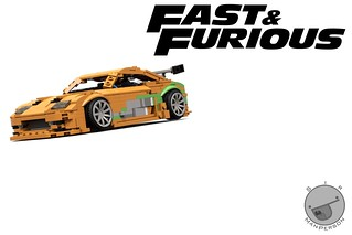 Fast And Furious Toyota Supra - 10-wide - Lego