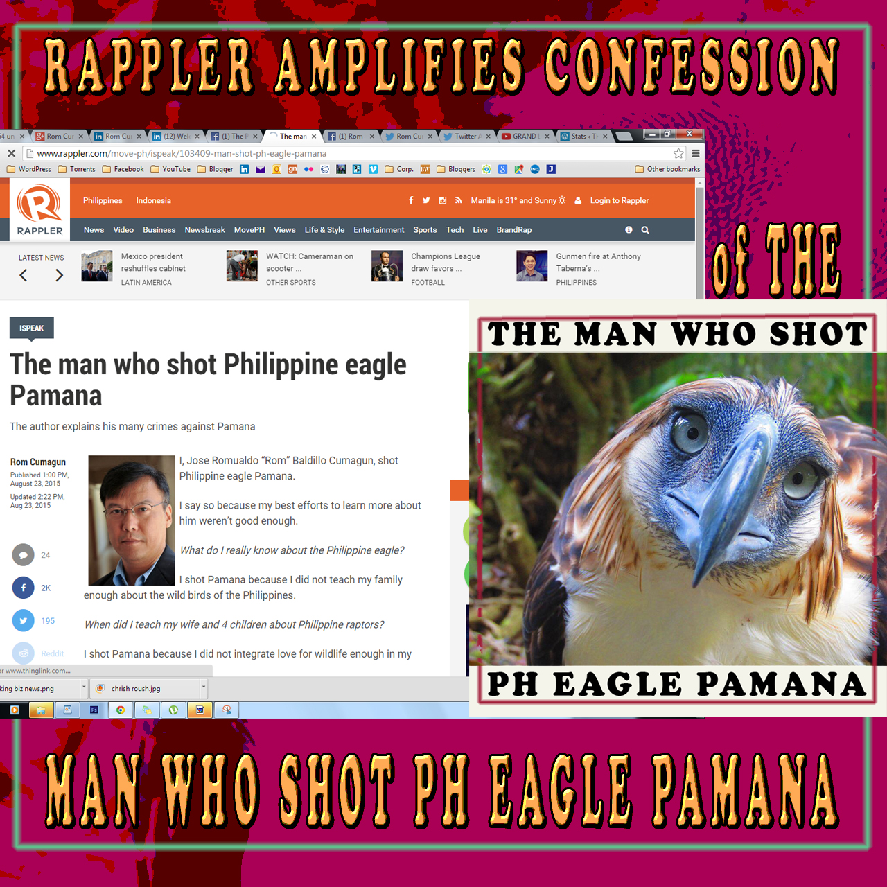 THE MAN WHO SHOT PHILIPPINE EAGLE PAMANA