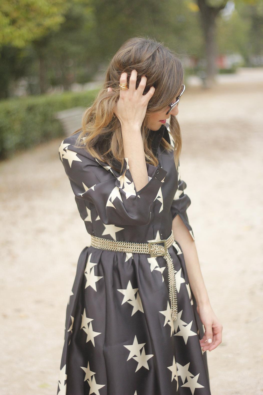 Star Print Dress sunnies heels outfit17