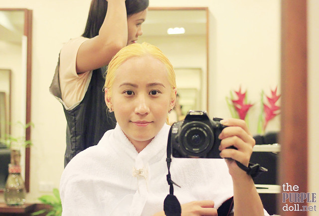 First bleaching equals bright yellow hair