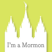 I'm a Mormon Temple Button citron