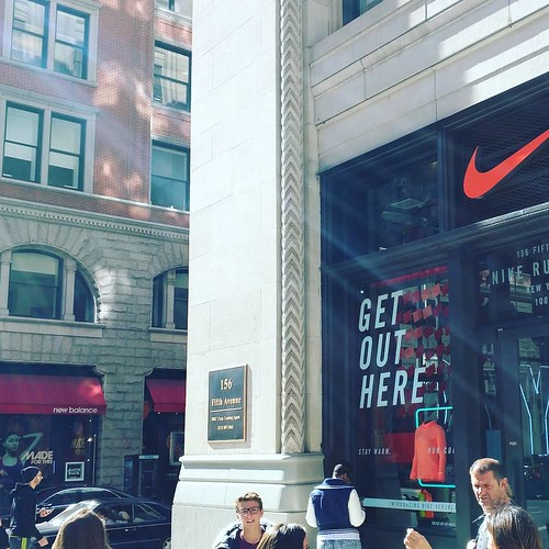 N is for Nike store which across the street from the New Balance store. nice ain't it? #jwab #alphabetsoup