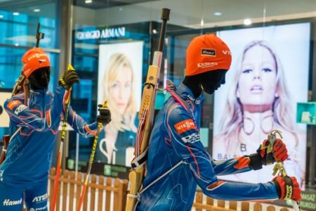 Nákupní centrum Arkády je V zajetí lyží