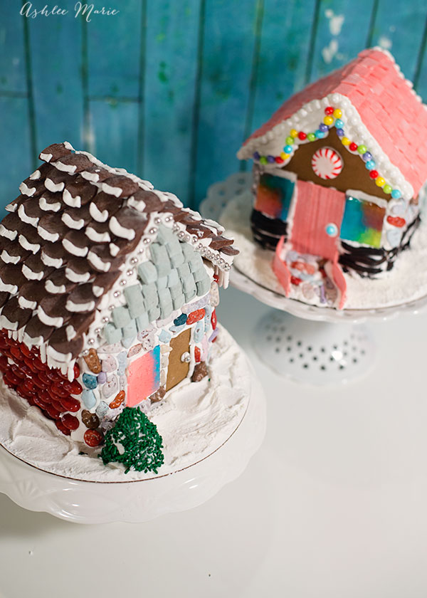 Gingerbread houses are a fun tradition! Get a GREAT recipe, no spreading, holds up well and tastes good too! Including a full video tutorial and template