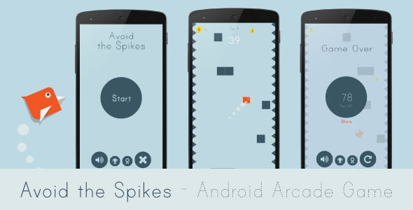 Codecanyon Avoid the Spikes v2.1 - Android Arcade Game