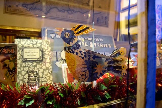 Chaucer Bookshop Christmas Window, Canterbury | www.rachelphipps.com @rachelphipps