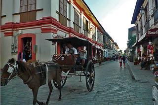 Vigan - Calle Crisologo calesa