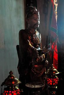 Inside Đền Quán Thánh temple