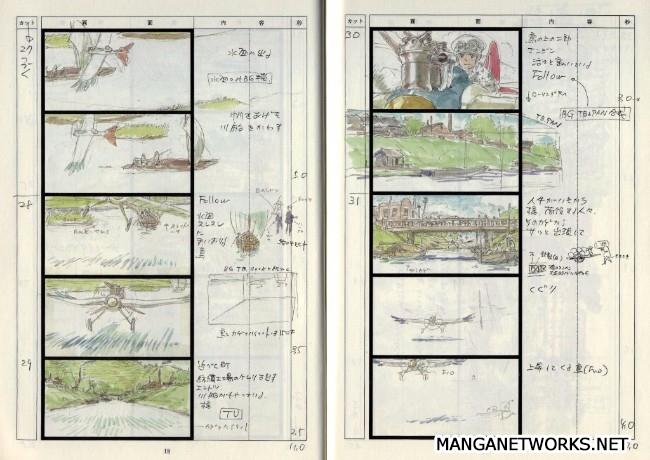 32965996692 fe9be15f23 o 16 Storyboards của Studio Ghibli sẽ khiến bạn muốn xem lại Movie ngay lập tức !!