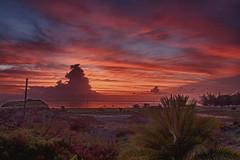 Sunset over Ffreyes Beach